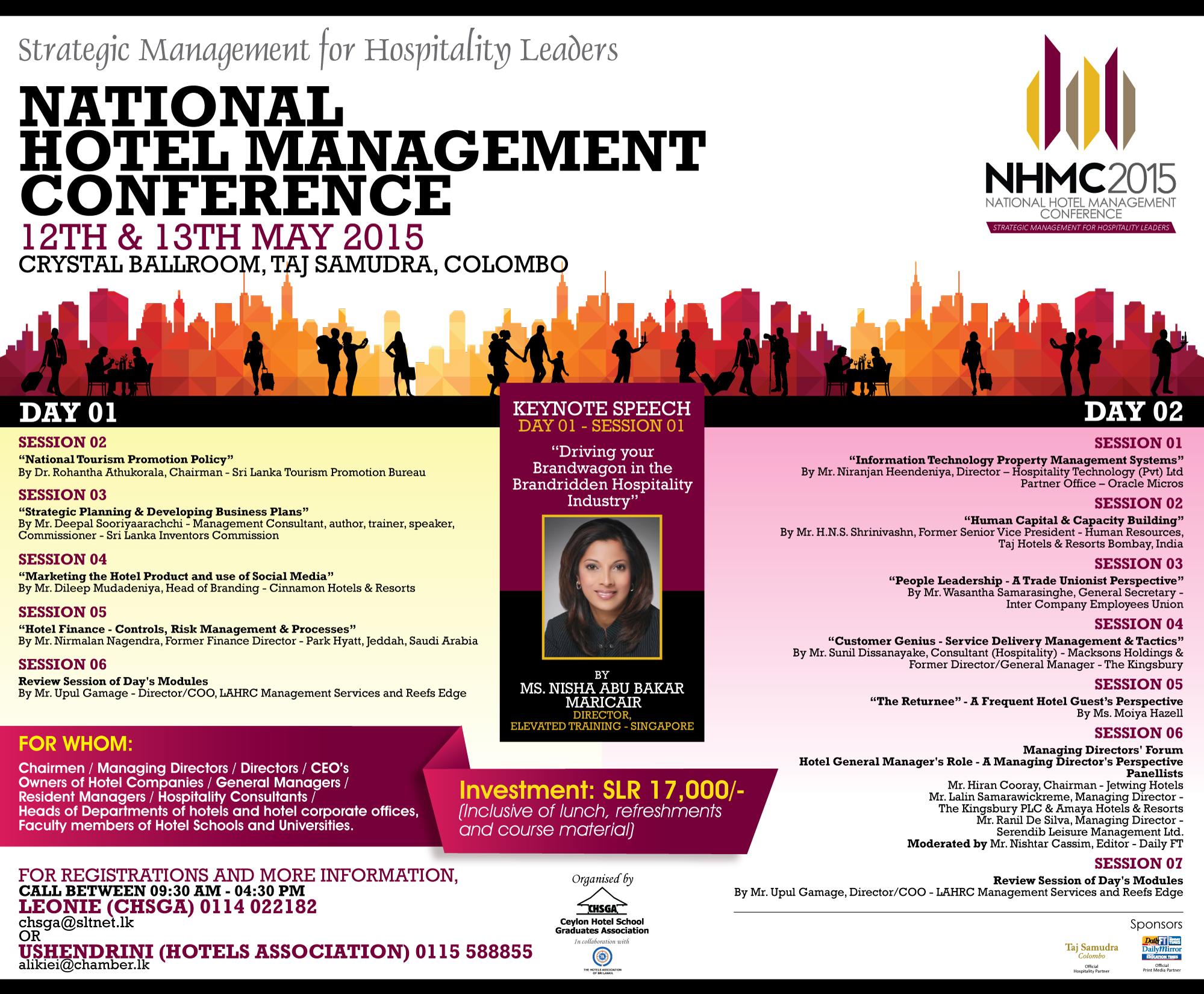 National Hotel Management Conference 2015 - Nisha